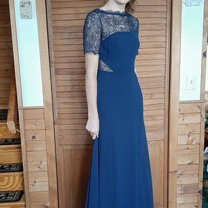 Waiting For Love Navy Lace Maxi Dress from Lulus